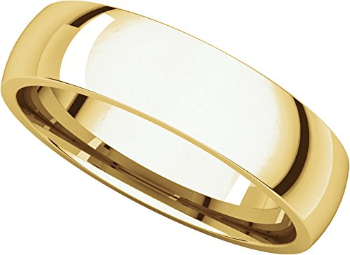 Mens-18K-Yellow-Gold-Light-Comfort-Fit-Wedding-Band-5MM