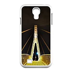 Samsung Galaxy S4 Cases Pedestrian Bridge 14th Avenue, Samsung Galaxy S4 Cases Bridge for Women Protective, [White]