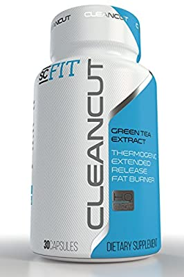 CleanCut Green Tea Extract Capsules: Thermogenic Extended Release Fat Burner for Men & Women by SCFIT