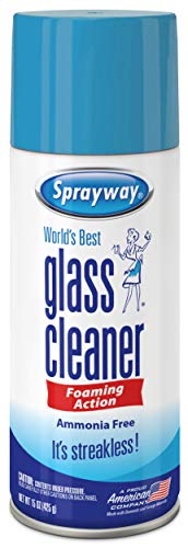 Sprayway SW053R Ammonia-Free Glass Cleaner, Foaming Action - Streakless Shine, 15 Oz (The Best Glass Cleaner)