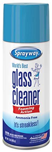 Sprayway SW053R Ammonia-FreeGlass Cleaner,Foaming Action -Streakless Shine,15 Oz (The Best Glass Cleaner)