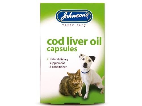 (2 Pack) Johnson's Vet - Cod Liver Oil 40 Capsules Johnson's Vet
