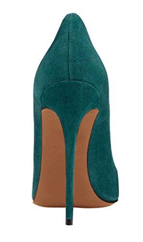 Arc-en-Ciel zapatos de mujer en punta zapato de tacón alto Verde