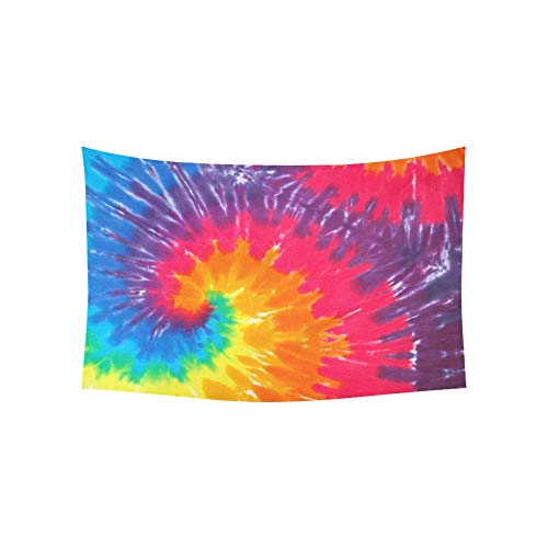 Shirt Tie Dye Wall - WBSNDB Tapestry Closeup A Tie Dye Shirt Tapestries Wall Hanging Flower Psychedelic Tapestry Wall Hanging Indian Dorm Decor Living Room Bedroom 60 X 40 Inch
