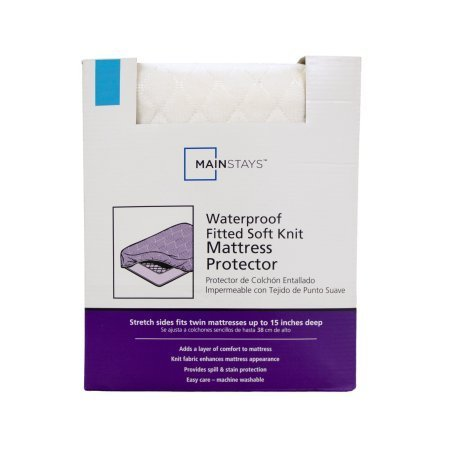 Mainstays Waterproof Fitted Soft Knit Mattress Protector, Tw