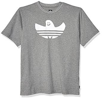 adidas Originals Men's Skate Shmoo Tee, core Heather/White, X-Small