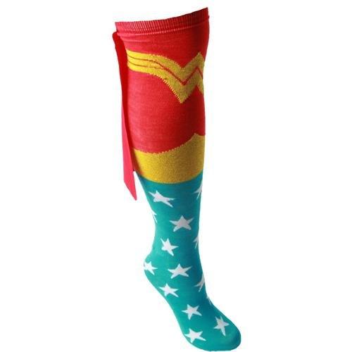 Bioworld Wonder Woman Adult Knee High Cape Sock, One Size