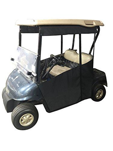 Awning Solid Linen (Track-Style Golf Cart Enclosure - Sunbrella Canvas (Jet Black - Sunbrella Canvas, EZGO RXV))