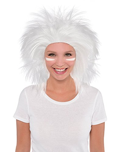 Sports Wig (Game Ready Team Spirit Party Crazy Wig Accessory, White, Synthetic Hair , One size)