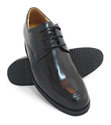 Le Scarpe Da Ascensore Per Uomo Con Altezza Aumentata Di Zerimar Aggiungono +2,8 Pollici Alle Scarpe In Pelle Di Alta Qualità Realizzate In Nero Spagna