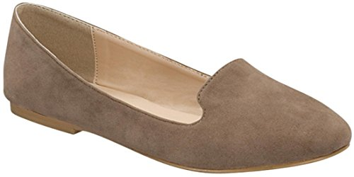 Forever Slipper On Link Slip Women's Loafer Flat Taupe Smoking rdrUnZYx