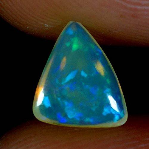 0,85cts–Naturel Super Rainbow Feu électrique Éthiopien Welo Opale Fancy Cab Gems