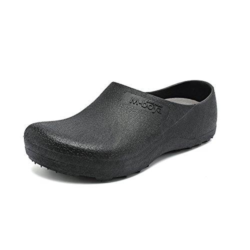 EASTSURE Slip Resistant Shoes for Women Men Black Non Slip Kitchen Work Shoes for Nurse Chef,US 8,EU 40 by EASTSURE (Image #1)