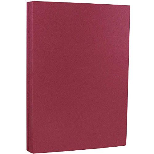 JAM PAPER Legal Matte 80lb Cardstock - 8.5 x 14 Coverstock - Bakri Raspberry - 50 - Raspberry 50 Sheet