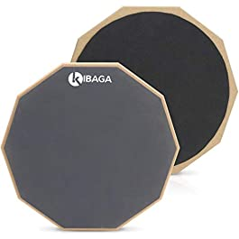 Double Sided Drum Pad 12 inches – Silent Drum Practice Pad Provides A Great Rebound – Perfect Snare Drum Pad For Quiet…