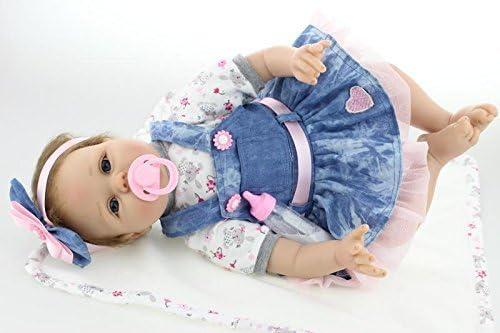 "22""Bambole Rinascere Sale Reborn Baby Doll Lifelike Silicone Bambole Gifts IT"