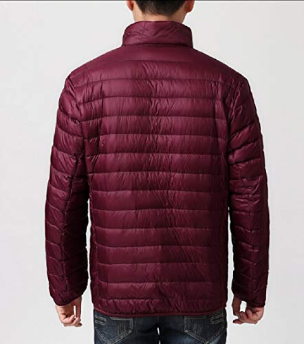 Packable Down Gocgt Coats Winter Red Jackets Men Warm Weatherproof Wine pnUaq4X