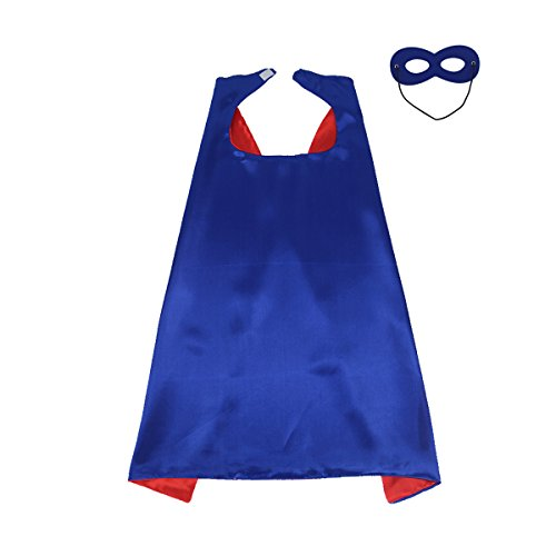 70cmX70cm-Special-Satin-BoysGirls-Superhero-CapeMask-Any-Color-Double-sided