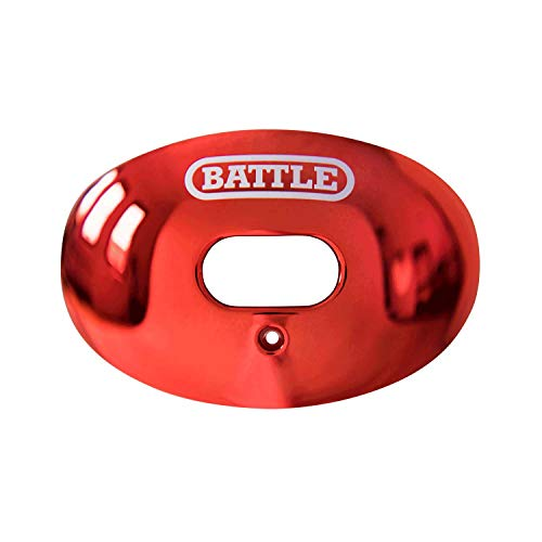 Lip Protector - Battle Oxygen Lip Protector Mouthguard (Red Chrome, One Size)