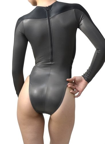 N 015 P8 Long Sleeved High Cut Swimsuit Normal Back P
