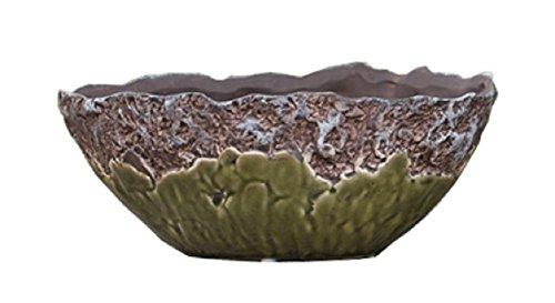 Napco Two-Tone Decorative Bowl, (Textured Bowl Planter)