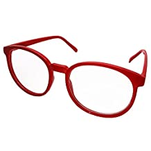FancyG Retro Vintage Inspired Classic Nerd Round Clear Lens Glasses Eyewear