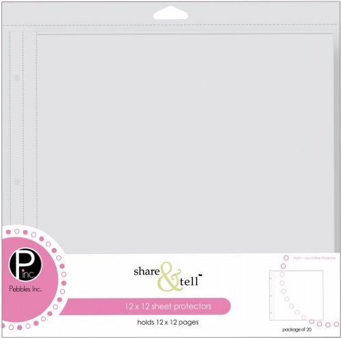 Share Tell Journaling Cards (Pebbles Share & Tell Page Protectors 12x12 20/Pkg-(1) 12x12 Pocket)