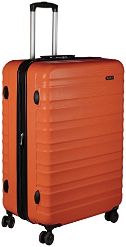 AmazonBasics Hardside Spinner Travel Luggage Suitcase - 30 Inch, Orange (Luggage 60 Linear Inches)