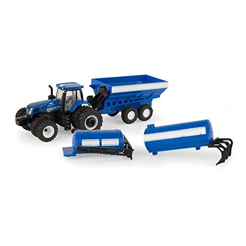 1/64 New Holland 4 Piece Set including a T8.320 and 3 Implements