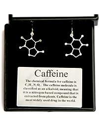 Caffeine Molecular Structure Earrings