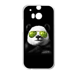 HTC One M8 Cell Phone Case White cool panda carved cell phone case bgk7174291