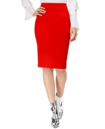 5872921aea Thalia Sodi Scuba Pencil Skirt (High Voltage, S) at Amazon Women's ...