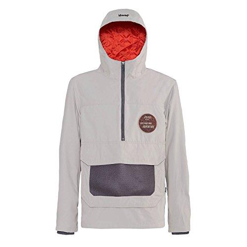 Jeep Man Anorak Padded Jacket W/Hood J4W, grau (Staub/Red Clay), L