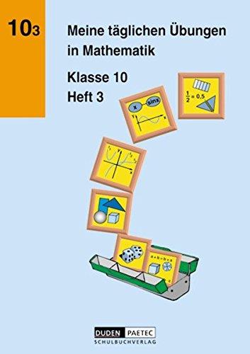 Meine täglichen Übungen in Mathematik, Klasse 10, EURO