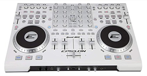 Precision Power QUADMIXWHITE Epsilon 4 Deck Usb Professional Midi Dj Controller ()