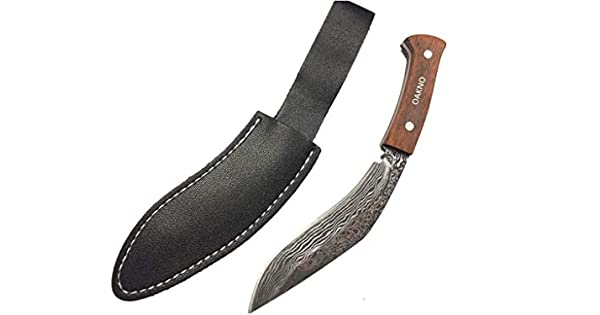 Amazon.com: OAKNO Cuchillo de supervivencia táctico recto ...