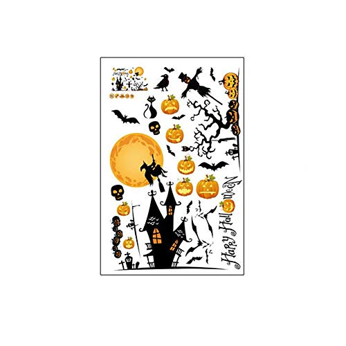 ARAYACY Halloween Decorative Wall Stickers/Pumpkin Lights Witch Party Environmental Protection PVC Stickers