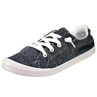 Forever Link Women's Classic Slip-On Comfort-01 Dark Grey Fashion Sneaker (6)