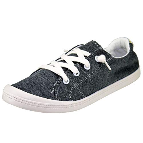 Forever Link Women's Classic Slip-On Comfort-01 Dark Grey Fashion Sneaker (9)