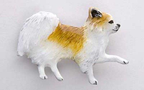 Peint à la main ~ Full Body Chihuahua à poils longs ~ Pin's (épinglette/Broche ~ dp350bf
