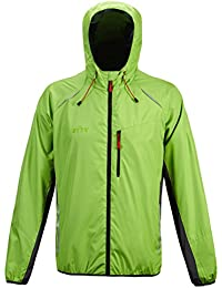 Men's Thin Lightweight Windbreaker Jacket Hooded Windproof Biking Running Coat