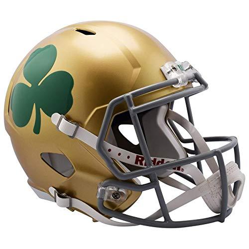 (Notre Dame Fighting Irish Shamorock Officially Licensed Speed Full Size Replica Football Helmet)
