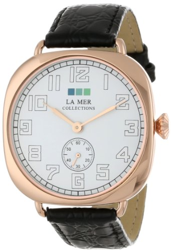 La-Mer-Collections-Womens-LMMOVW2047-Black-Rose-Oversized-Vintage-Watch