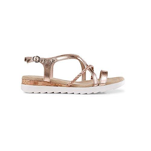 Drievholt Dames Strappy-sandalette Brons
