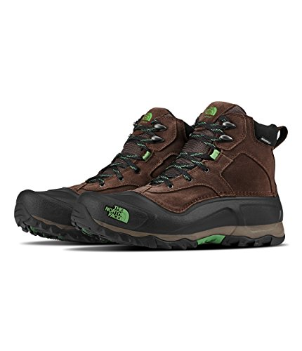 The North Face Men's Snowfuse Insulated Boot- Ganache Brown & Sullivan Green - 140 (Male Ski Boots)