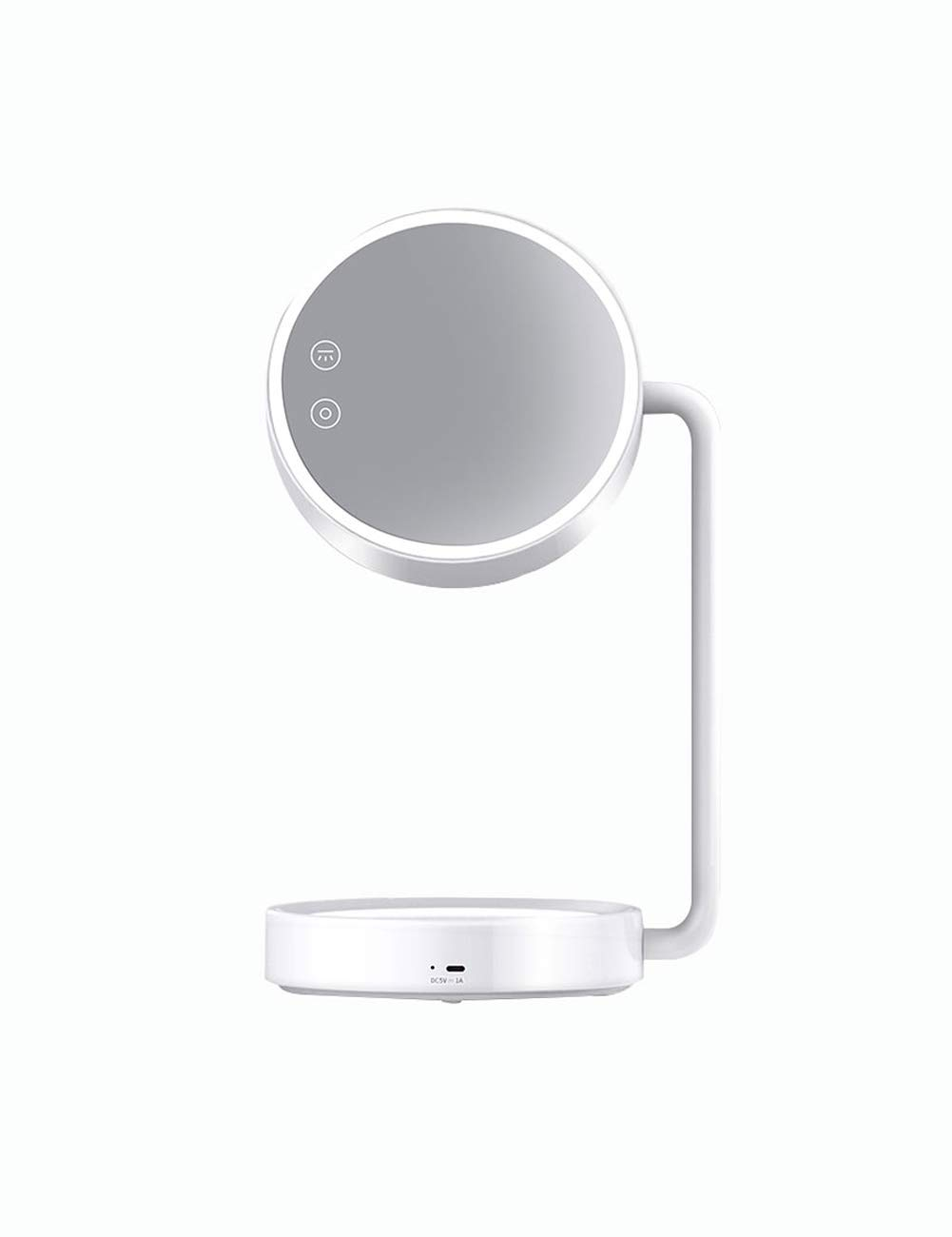 KCoob Makeup Mirror Led Lighted Table Cosmetic Mirror Rechargeable USB White Color Reading Table Lamp