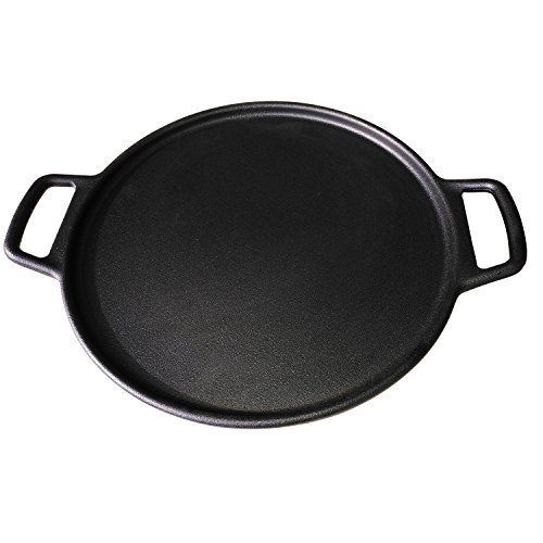 ROYAL KASITE Preseasoned Cast Iron Pizza Pan,14.8-Inch by ROYAL KASITE