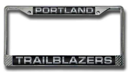 NBA Portland Trailblazers Laser-Cut Chrome Auto License Plate Frame
