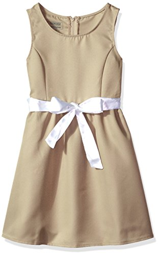 - CHEROKEE Little Girls' Uniform Jumper, Sash Khaki, 6