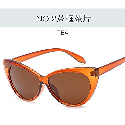 de femenina Gato ZHANGYUSEN gafas Vintage de sexy C2 sol Tonos gafas C4 de UV400 Ojo Retro mujer Gafas moda de qIxwR